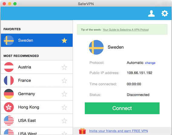 SaferVPN Mac Client