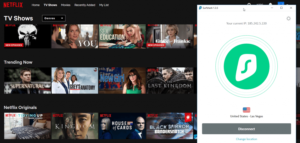 Netflix US Library with VPN